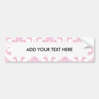 Motif vintage blanc rose Girly de damassé Autocollant De Voiture