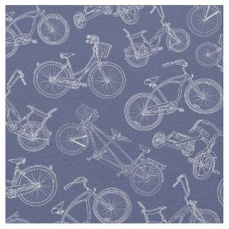 Motif vintage de bicyclette de bleu marine tissu