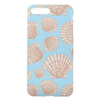 Motif vintage de coquillage de style coque iPhone 8 plus/7 plus