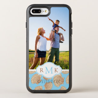 Motif vintage | de coquillage votre photo et coque otterbox symmetry pour iPhone 7 plus