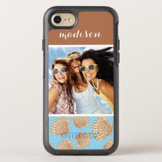 Motif vintage | de coquillage votre photo et nom coque otterbox symmetry pour iPhone 7