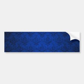 Motif vintage de damassé de bleu marine