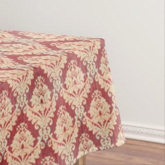 Motif vintage de damassé en la crème et rouge nappe