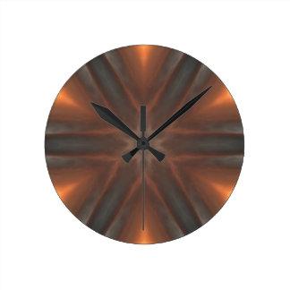 motif vintage de mouchoir de chute horloge ronde