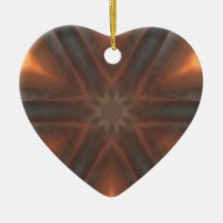 motif vintage de mouchoir de chute ornement cœur en céramique