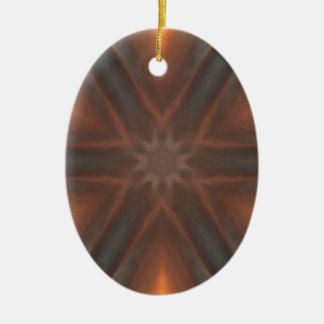 motif vintage de mouchoir de chute ornement ovale en céramique