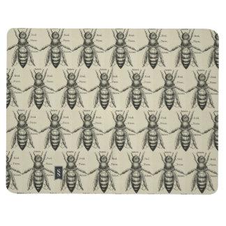 Motif vintage d'illustration d'abeille carnet de poche