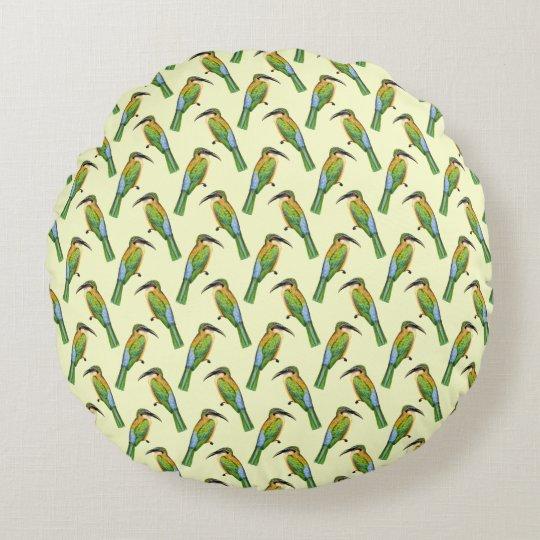 Motif vintage d'oiseau d'Abeille-mangeur somalien Coussins Ronds