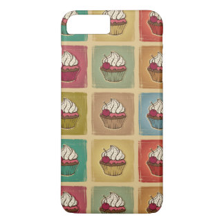 Motif vintage fait de petits gâteaux coque iPhone 7 plus