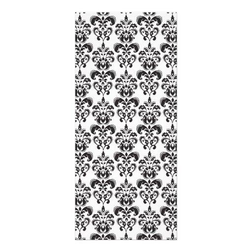 motif vintage noir et blanc girly 2 de damass mod le de carte double zazzle. Black Bedroom Furniture Sets. Home Design Ideas