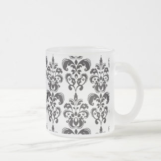 Motif vintage noir et blanc Girly 2 de damassé Tasse À Café