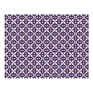 Motif violet foncé de prune et de blanc carte postale