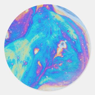 Motifs colorés d'huile, Canada Sticker Rond