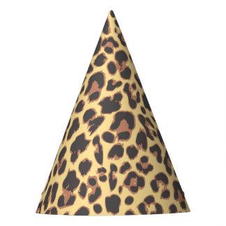 Motifs de peau d'animal d'empreinte de léopard chapeaux de fètes