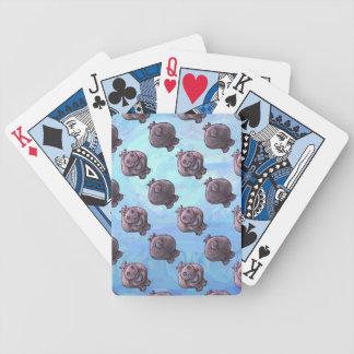 Motifs de têtes et de queues d'hippopotame jeu de cartes