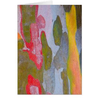 Motifs d'écorce d'arbre de Cypress, Italie Carte De Vœux