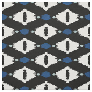Motifs noirs et blancs bleus mignons de tribal tissu