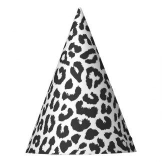 Motifs noirs et blancs de peau d'animal chapeaux de fètes