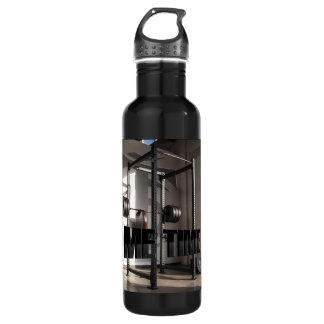 Motivation accroupie de séance d'entraînement de bouteille d'eau en acier inoxydable