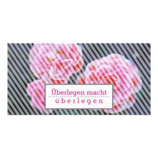 Motivation carte avec des roses carte avec photo