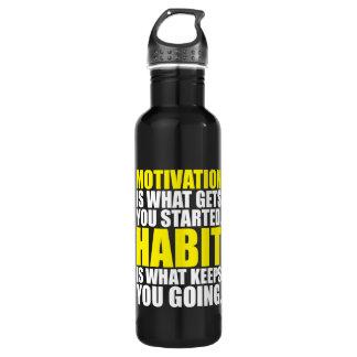 Motivation contre l'habitude - séance bouteille d'eau en acier inoxydable