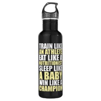 Motivation de séance d'entraînement - victoire bouteille d'eau en acier inoxydable