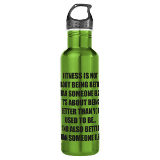 Motivation drôle de gymnase de forme physique bouteille d'eau en acier inoxydable