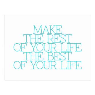 Motivation, inspiration, mots de la sagesse. carte postale