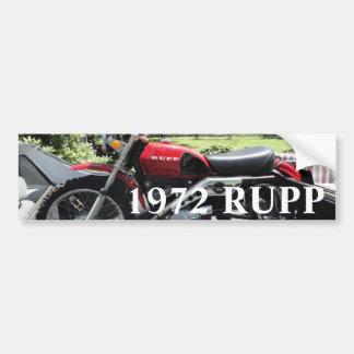 Moto 1972 de Rupp Autocollant De Voiture