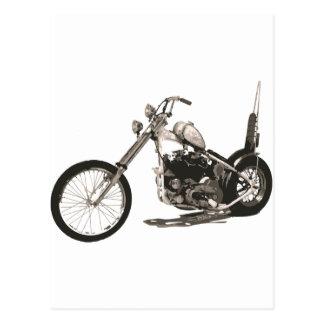 Moto classique américaine de couperet carte postale
