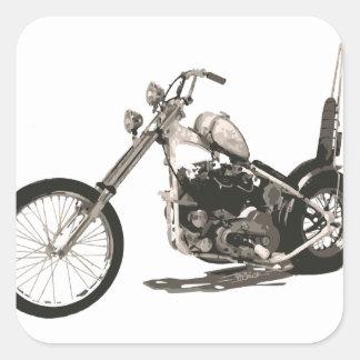 Moto classique américaine de couperet sticker carré