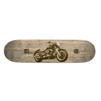 Moto classique en bois skateboards cutomisables