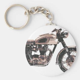 Moto classique simplement belle porte-clef