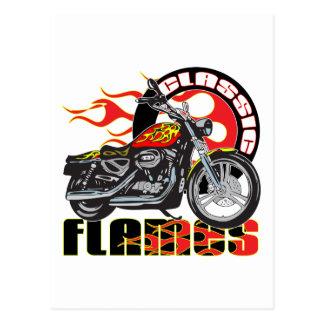 Moto classique vintage du travail de peinture de cartes postales
