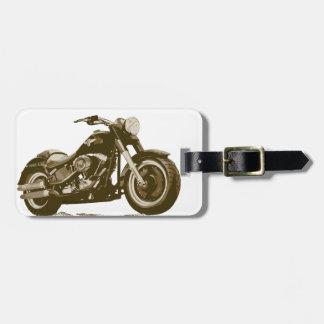 Moto de Brown Harley Étiquette À Bagages