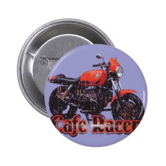 Moto de coureur de café badge rond 5 cm