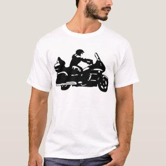 moto de moto de motard goldwing t-shirt