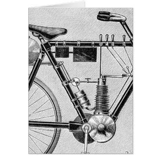 Moto de Petrolette Omega, 1895 Cartes De Vœux