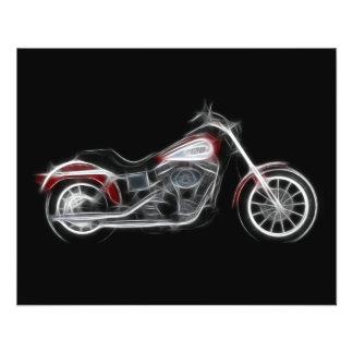 Moto de poids lourd de porc de couperet prospectus 11,4 cm x 14,2 cm