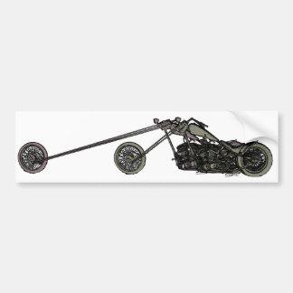 Moto faite sur commande grise autocollant pour voiture