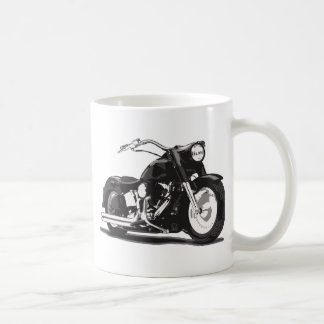 Moto noire de coutume de Harley Davidson Mug Blanc