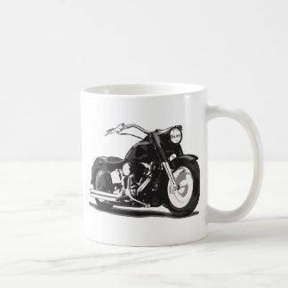 Moto noire de coutume de Harley Davidson Tasses
