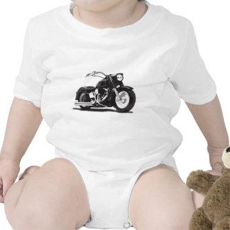 Moto noire de Harley Barboteuses