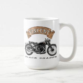 Moto noire d'ombre de Vincent Mugs À Café