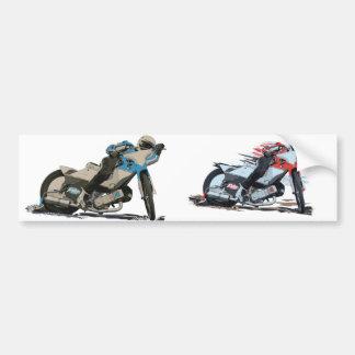 Moto rouge rapide de speed-way autocollant pour voiture