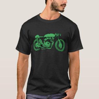 Moto verte de cru de coureur de café t-shirt