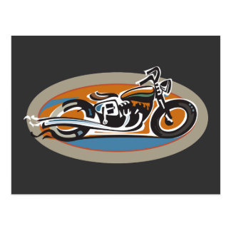Moto vintage cartes postales