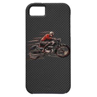 MOTO VINTAGE SUR LA FIBRE DE CARBONE COQUE iPhone 5