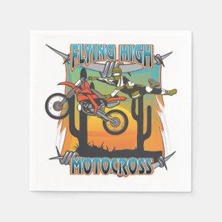Motocross élevé volant serviette en papier