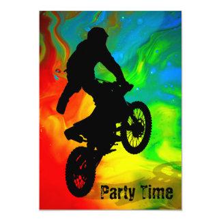 Motocross solaire de fusion carton d'invitation  12,7 cm x 17,78 cm
